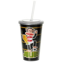 Drinkbeker 500 ml + rietje zwart SOCCR Paul Frank