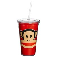 Drinkbeker 500 ml + rietje rood Paul Frank