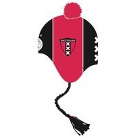 Muts ajax senior zwart/rood met flappen