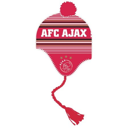 AJAX Amsterdam Ajax Muts Senior rood-wit met flappen