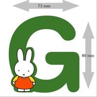 Letter Nijntje 8 cm G