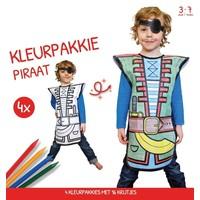 Kleurpakkie Piraat: 4-pack