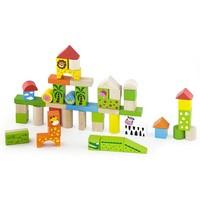 Blokken New Classic Toys zoo 50 stuks 18x18x18 cm