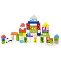 Blokken New Classic Toys farm 50 stuks 18x18x18 cm