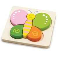 Puzzel New Classic Toys: vlinder 15x15 cm