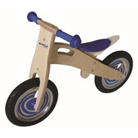 Loopfiets naturel/blauw Simply for Kids 80x35x55 cm