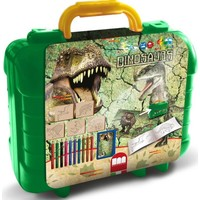 Schrijfset koffer Dinosaurs: 81-delig