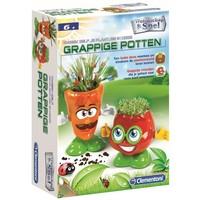 Kweek zelf plantjes in grappige potten Clementoni