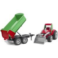 Tractor met voorlader en aanhanger Bruder Roadmax