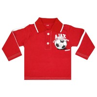 Baby polo ajax longsleeves rood little soccer fan