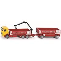 Bouwmaterialen vrachtwagen met aanhanger SIKU