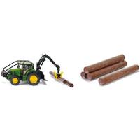 Value pack SIKU: John Deere Tractor + 10 boomstammen