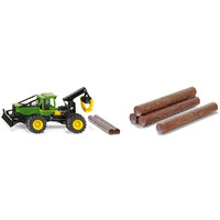 Value pack SIKU: John Deere Skidder + 10 boomstammen