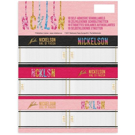 Nickelson Etiketten Nickelson Girls 18 stuks