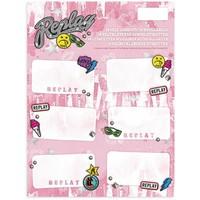 Etiketten Replay Girls 18 stuks