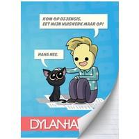 Schrift Dylan Haegens Team A4 gelijnd
