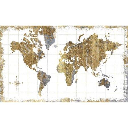 Roommates Stickerbehang RoomMates worldmap 91x152 cm