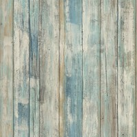 Wandsticker RoomMates Peel & Stick Decor Blue Distressed Wood