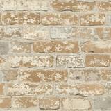 Wandsticker RoomMates Peel & Stick Decor Stuccoed Brown Brick