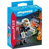 Brandweerman met brandende boom Playmobil