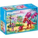Drakenhoeder met rode draken Playmobil