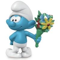Schleich Smurf met boeket 20798 - Speelfiguur  - De Smurfen - 5 x 3,1 x 5,2 cm