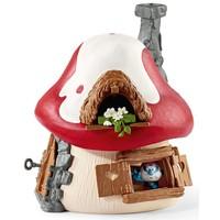 Schleich Smurfenhuis met grote smurf, Gargamel en Izraël 20800 - Speelfigurenset  - De Smurfen - 19 x 19 x 19 cm