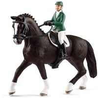Schleich Springruiter met paard 42358 - Speelfiguur - Horse Club - 15 x 8,5 x 18 cm
