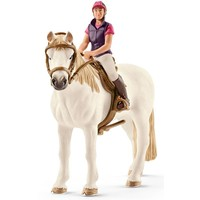 Schleich Schleich Amateur Ruiter met paard 42359 - Speelfiguur - Horse Club - 15 x 8,5 x 18 cm