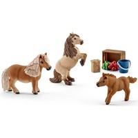 Schleich Mini shetlanders 41432 - Paard Speelfiguur - Horse Club - 24,2 x 5,1 x 18,9 cm