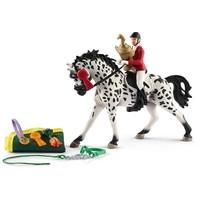 Schleich Toernooi met paard 41434 - Paard Speelfiguur - Horse Club - 5 x 24,5 x 19 cm