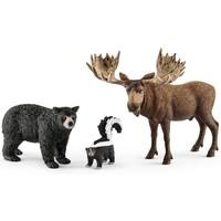 Schleich Noord-Amerikaanse Bosdieren 41456 - Speelfigurenset - Wild Life - 24,5 x 8,2 x 19 cm