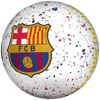 Bal barcelona straat wit logo mes que