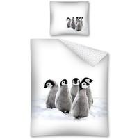 Dekbedovertrek Pinguins 140x200/70x80 cm
