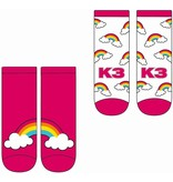 K3 K3 Sokken Regenboog roze - 2 stuks
