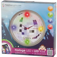 Wandklok 4 LED Party FunLights 30 cm