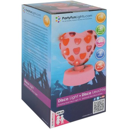 Party FunLights Disco Lamp Hart Party FunLights 20 cm