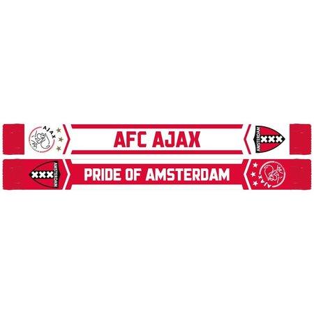 AJAX Amsterdam Sjaal ajax rood/wit AFC logo en wapen
