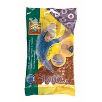 Strijkkralen SES 1000 stuks bruin