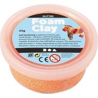 Foam Clay Creotime glitter oranje 35 gram