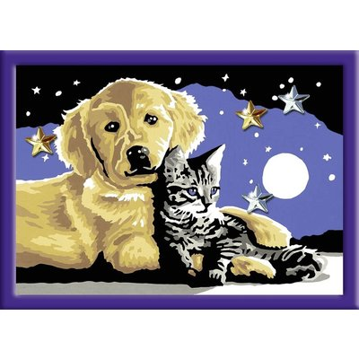 Ravensburger Hond en kat Schilderen op nummer