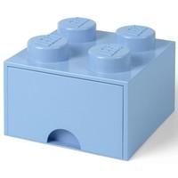 Opberglade LEGO DESIGN brick 4 blauw AQUA