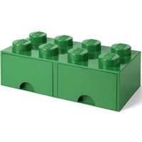 Opberglade LEGO brick 8 donker groen