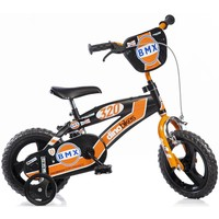 Kinderfiets Dino Bikes BMX black-orange 12 inch