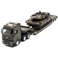 Militair transport met tank SIKU