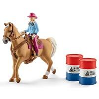 Schleich Barrel Racing 41417 - Paard Speelfiguur - Farm World - 24,2 x 5,1 x 18,9 cm