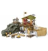 Schleich Schleich Croco jungle onderzoeksbasiskamp 42350 - Krokodil Speelfigurenset - Wild Life - 50 x 24 x 20 cm
