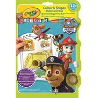Kleur- en stickerboek Crayola Paw Patrol
