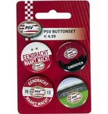 PSV Eindhoven Buttonset psv 4 stuks