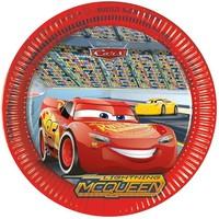 Bordjes Cars 3 23 cm: 8 stuks